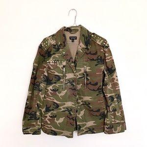 Topshop Camo Studded Jacket